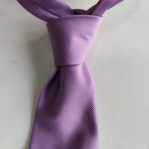 Corbata lisa de hombre color lila