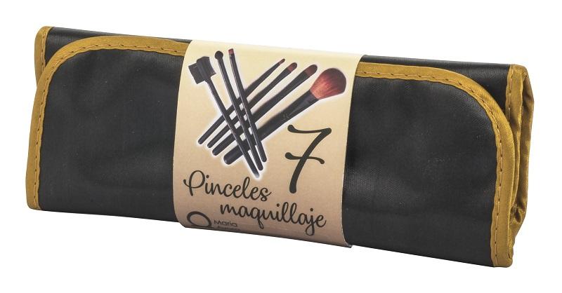 MANTA 7 PINCELES DE MAQUILLAJE