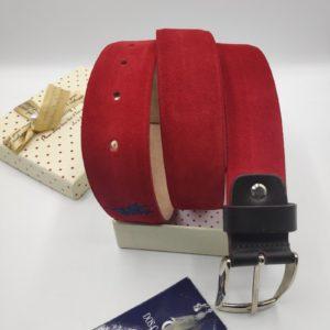 Cinturón de caballero en rojo