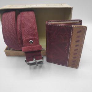 Regalo de hombre de cartera y cinturón