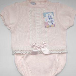 conjunto rosa talla 6 meses