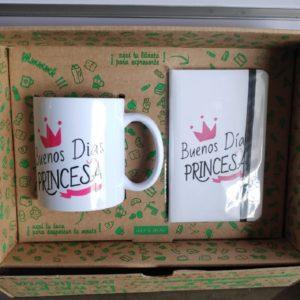 Caja regalo con taza y agenda