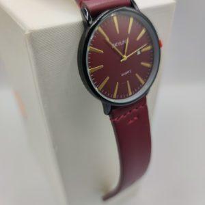 Reloj de hombre granate
