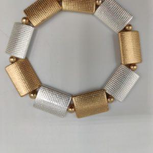 Pulsera plateadas y dorada