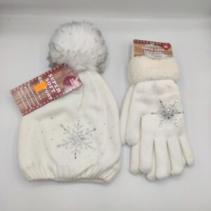 Cionjunto chica de gorro y guantes de lana