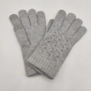 Guantes de lana grises de chica