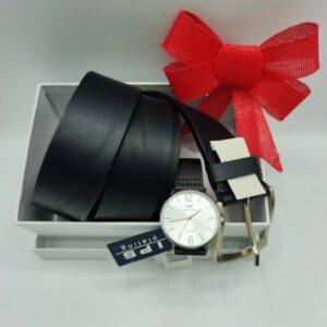 REloj y cinturón a juego en negro