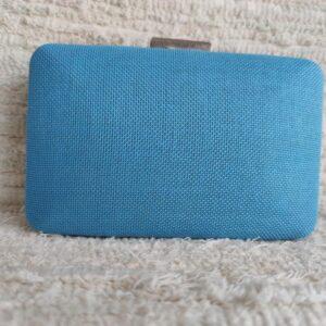 cartera clutch azul