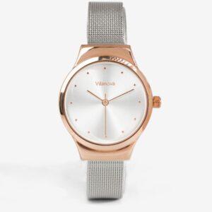 Reloj de mujer plateado y dorado