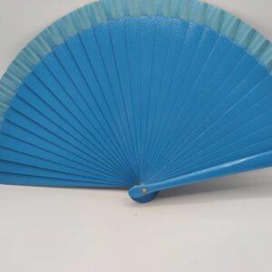 Abanico liso azul